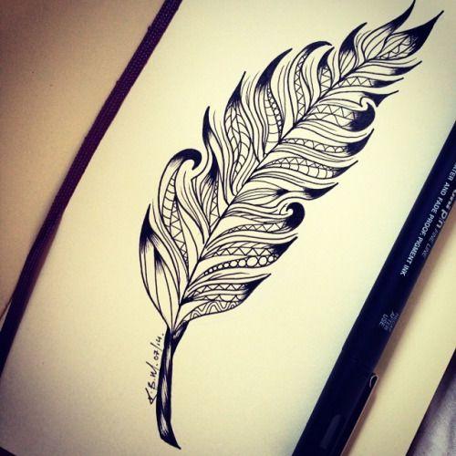 feather doodle tattoo - Google zoeken
