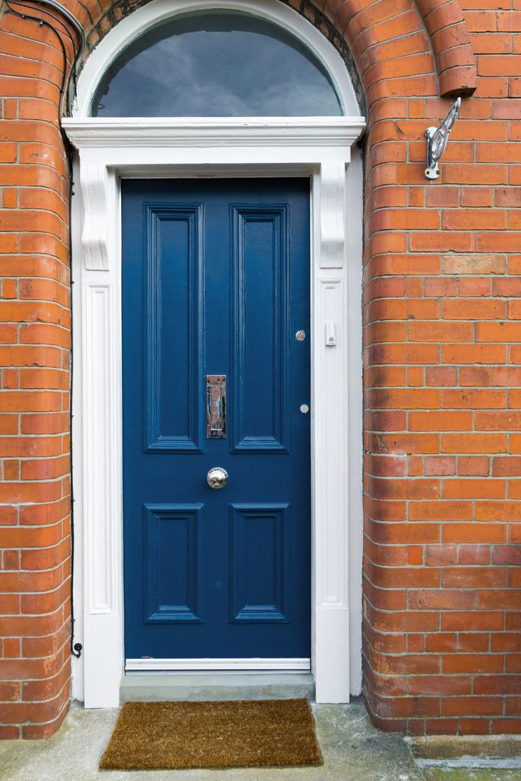 """An Edwardian door painted in Colourtrend """"Peacock Blue"""""""