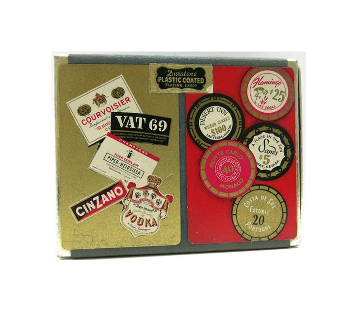 Duratone Playing Cards | Plastic Coated Sealed | Werbung Bar Mid Century | Spielkarten Original Verpackung Duratone Werbung Sammler von ZeitepochenShop auf Etsy
