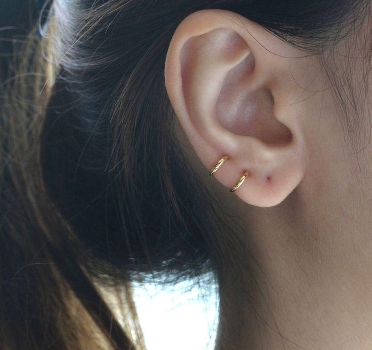 8mm Sterling hoop earring $8.00