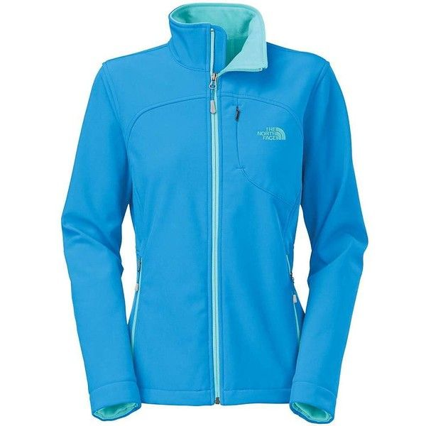 The North Face Women's Apex Bionic Jacket ($96) ❤ liked on Polyvore featuring activewear, activewear jackets, clear lake blue and the north face