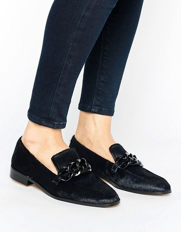 Mango | Mango Leather Buckle Loafer - Black