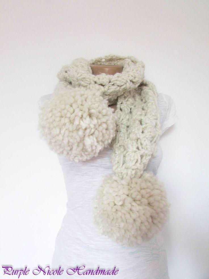 Snowflake - Handmade Women Comforter / Neckwarmer by Purple Nicole (Nicole Cea Mov)