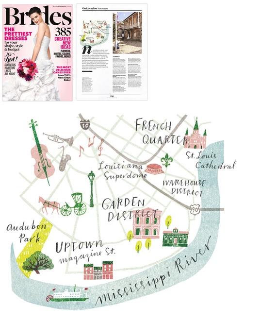 Map illustration and hand drawn fonts. Brides : Masako Kubo