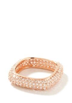 rose gold square ring
