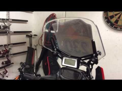(76) CRF1000L Africa Twin Part 9, Batzen Adjustable Screen System - YouTube