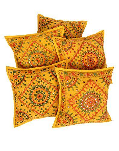 tnico-Cubre-Cojines-Sof-geomtrico-amarillo-para-la-decoracin