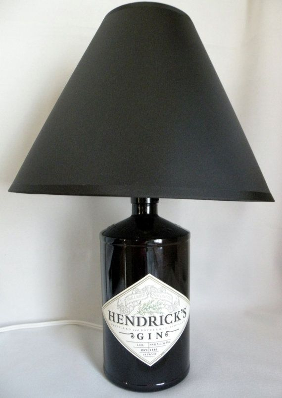HENDRICK'S GIN Recycled Bottle Lamp 1 Liter