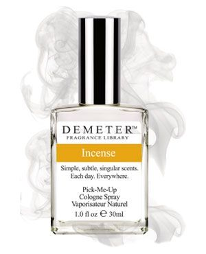 Incense by Demeter Fragrance is a balsamic, smokey, warm and spicy Oriental fragrance featuring copal incense. - Fragrantica