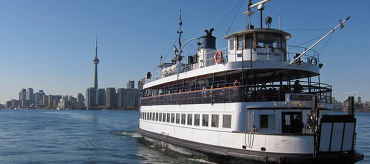 Toronto Island Ferry - The Toronto Ferry Docks is located at the foot of Bay Street at Queens Quay, just west of the Westin Harbour Castle hotel.  Fares include return Adult $7  Student/Senior $4.40  http://www1.toronto.ca/wps/portal/contentonly?vgnextoid=3690dada600f0410VgnVCM10000071d60f89RCRD