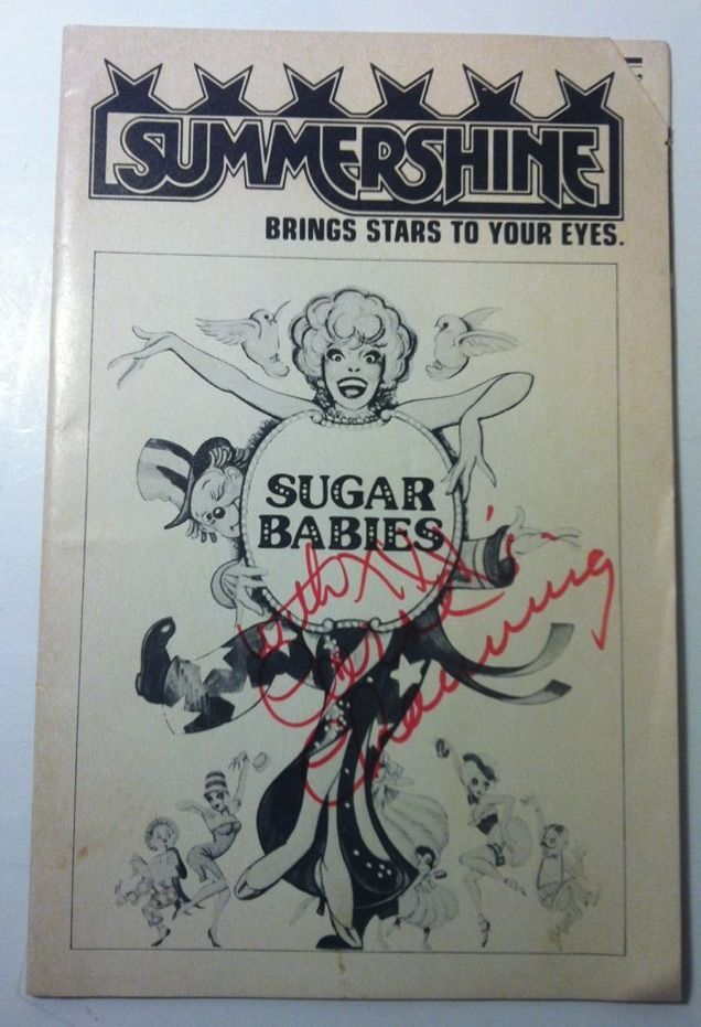Carol Channing Sugar Babies The Burlesque Musical Original