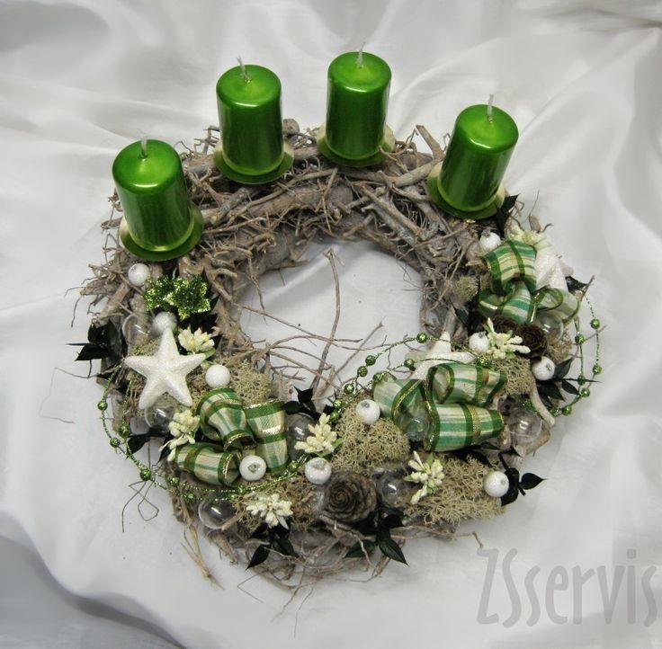Sezonní aranžmá   Adventní svícny a věnce   Adventní věnec proutěný   ZSservis květiny Hlučín