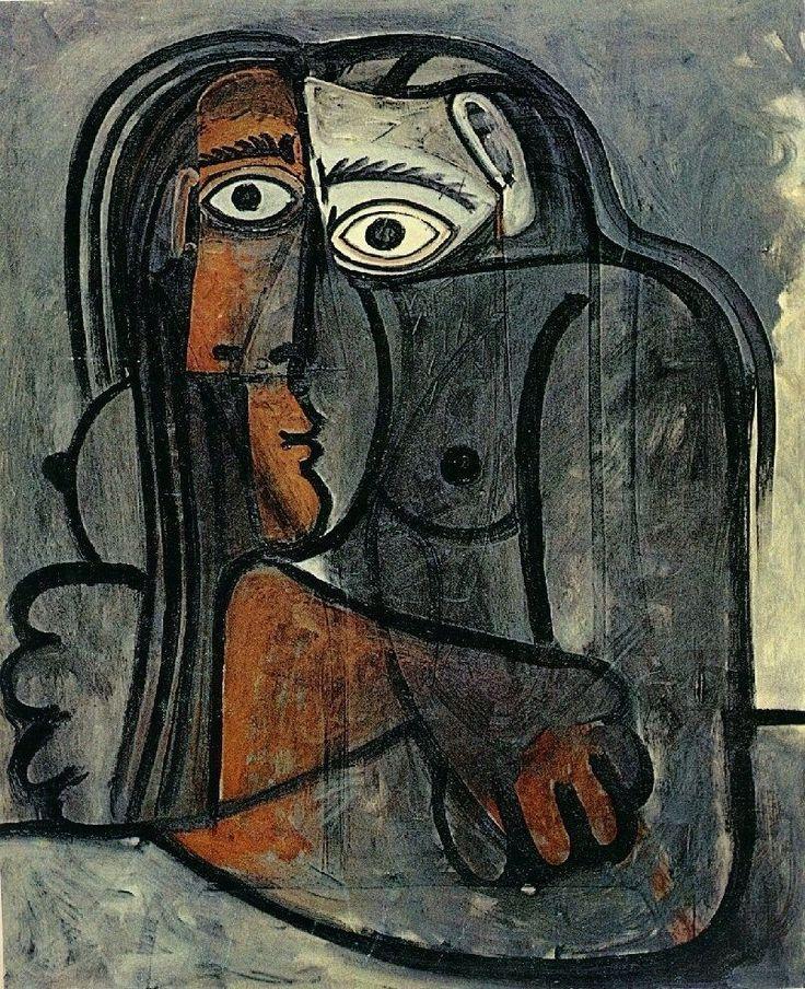 jrG Ve por ahí... - dionyssos: Pablo Picasso , nu les bras croises...