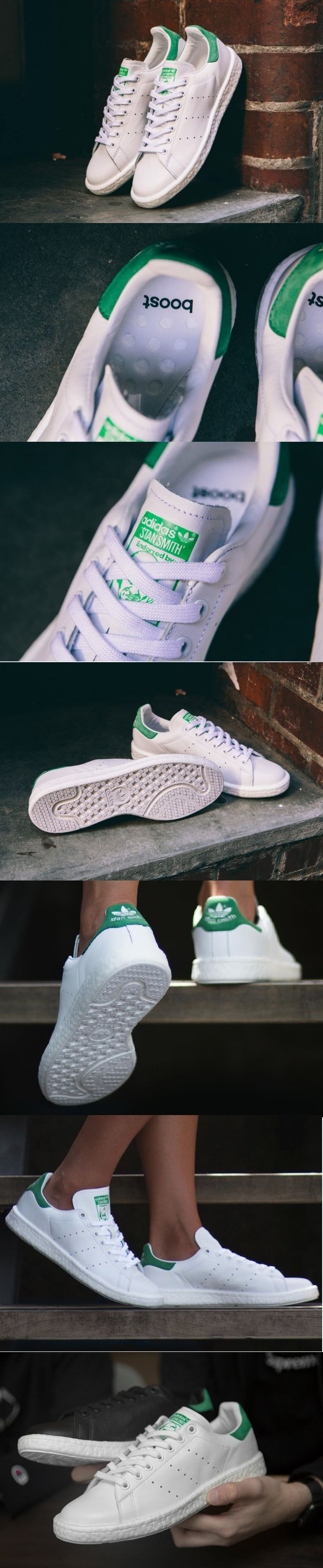 #Adidas #StanSmith #Boost OG #White #Green http://www.adidas.fr/chaussure-stan-smith-boost/BB0008.html