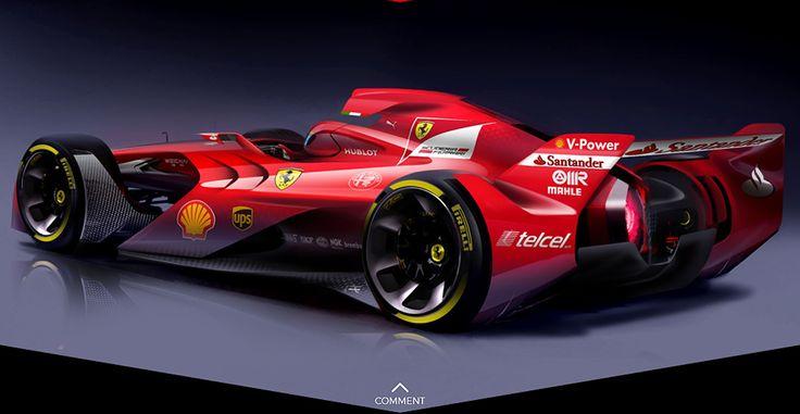 Ferrari : les images de la F1 du futur