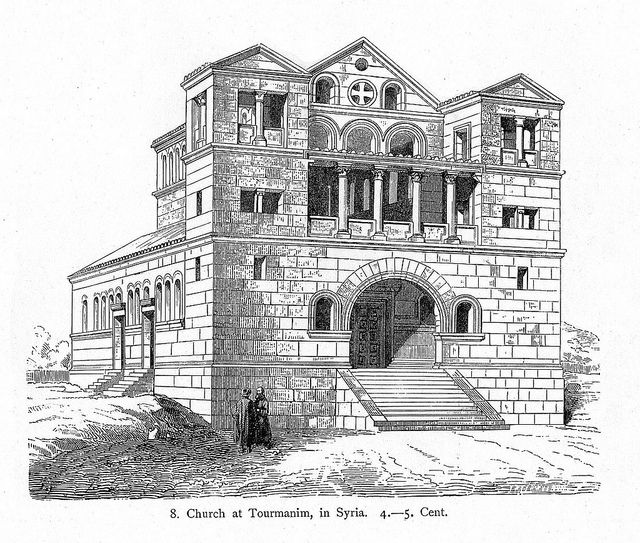 Church At Der Turmanin Reconstruction Rendering Exterior View | Churches Byzantine And Drawings