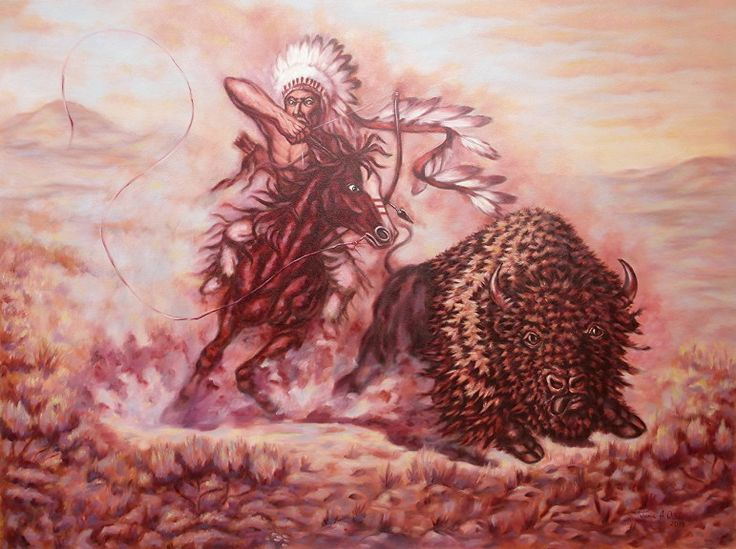 16 best plains indian warriors life images on pinterest native the ultimate test an american indian is shown in a midst of a buffalo hunt fandeluxe Gallery
