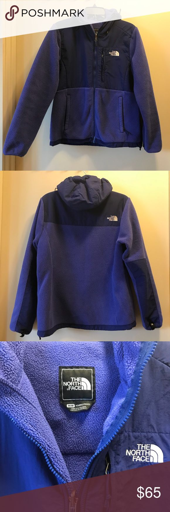 The North Face hooded fleece Women's M Very versatile hooded fleece! Super warm and perfect for layering. (Matches perfect with out Patagonia raincoat listing)  Color is bluish purple.  Water resistant hood and shoulders. The North Face Jackets & Coats #RaincoatsForWomenTheNorthFace