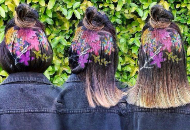 Hair Stencil, Tren Rambut Unik yang Tidak Biasa