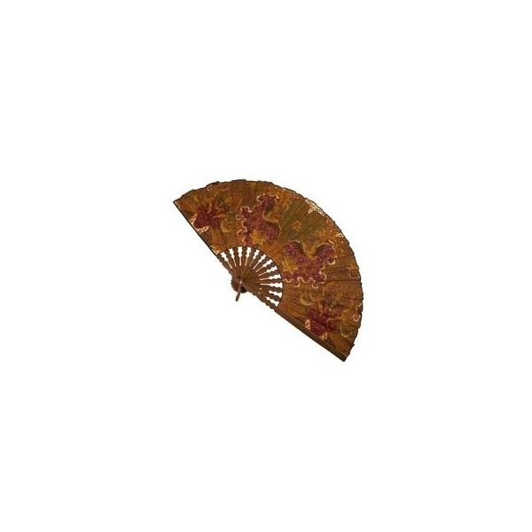 Handmade Batik Decorative Fan from Indonesia || Fair Trade Handicrafts... ❤ liked on Polyvore