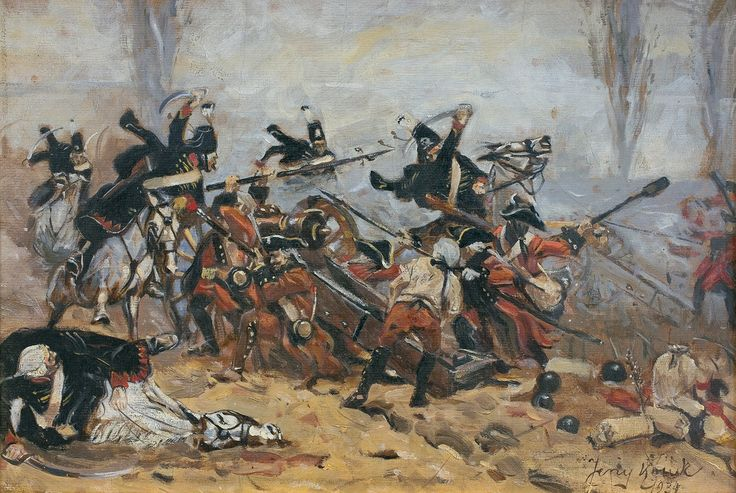 Hussar attack - Jerzy Kossak