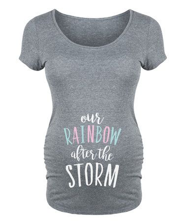 This Athletic Heather 'Our Rainbow' Maternity Scoop Neck Tee is perfect! #zulilyfinds