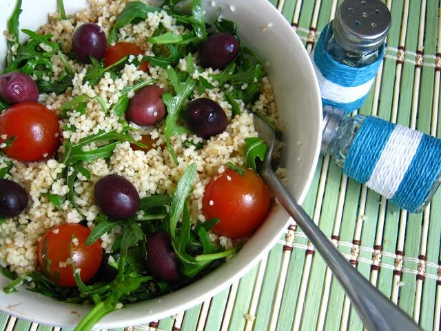 Cous-cous & ruccola salad.