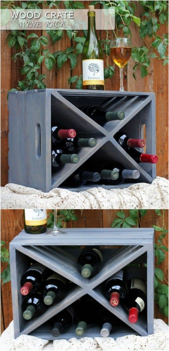 25 Wood Crate Upcycling Projects For Fabulous Home Decor – Organize and decorate…  – Crates 2019