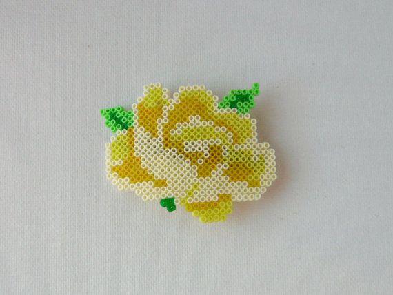 38 best perler bead flowers images on