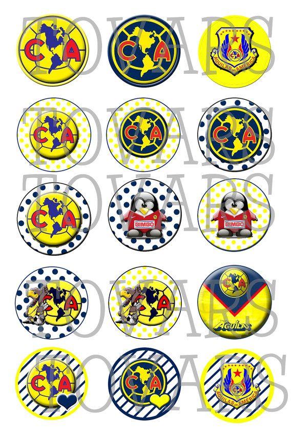 Club+America+AGUILAS+DEL+AMERICA++Soccer+Futbol+1+inch+by+Tovars,+$1.60