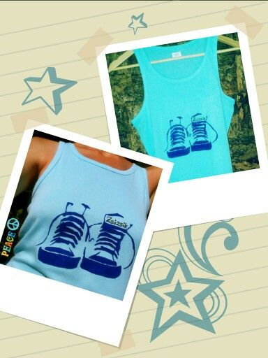 My new hand painted gym shoes t-shirt