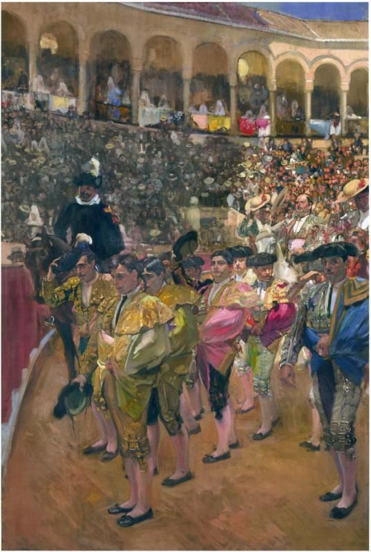 The Bullfighters, 1915 by Joaquín Sorolla (1863-1923) A small yes, and a big no, I think.