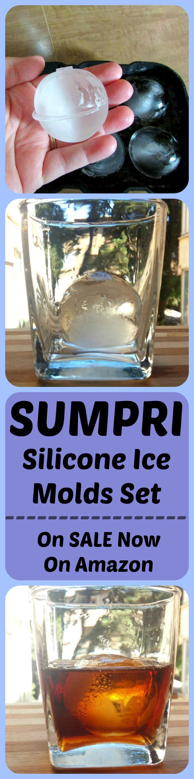 Make beautiful looking drinks using SUMPRI  Silicone Ice Molds set. The ONLY TWO-COLOR Set Available. Press this link Get your set now: amzn.to/29W29XL #sumpri #sphere #mold #ice #cube #tray #ball #maker