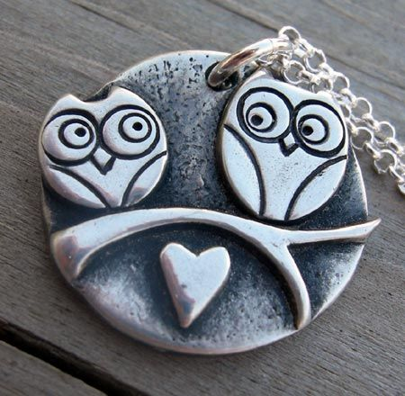 Silver Owls Pendant | Arts, Crafts and Design Finds
