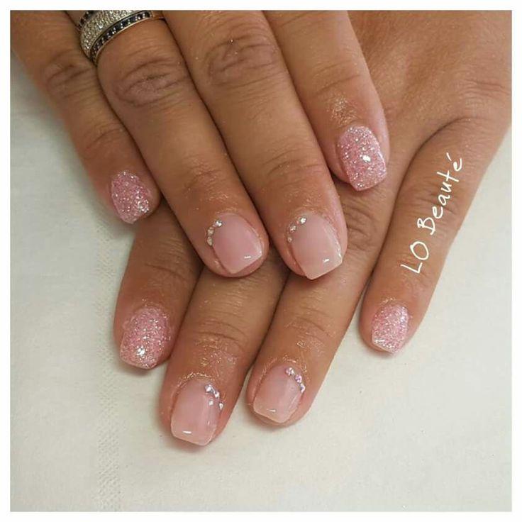 Pink glitters And strass swarovski