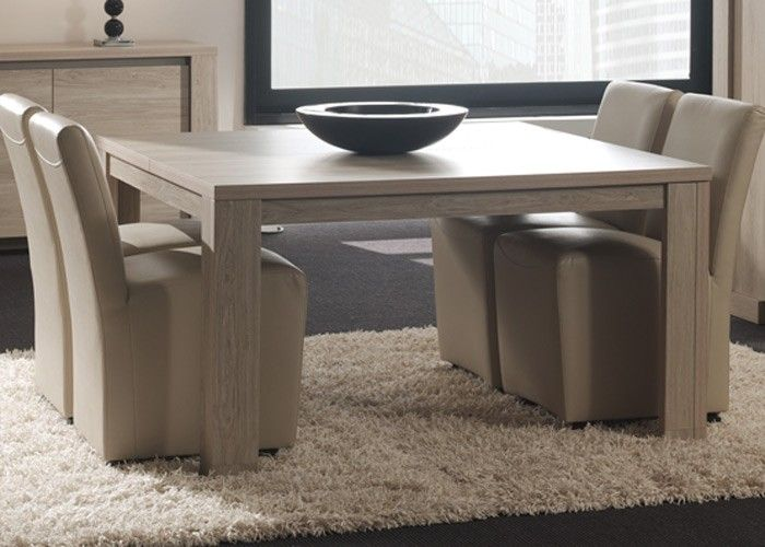 table carree 140 x 140 cm tonia les