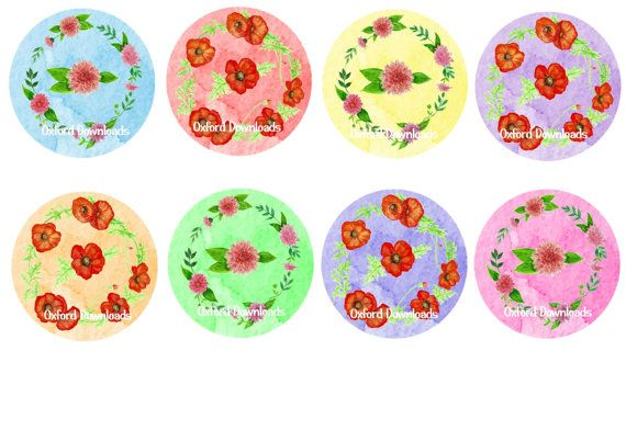 Floral Watercolour Gift Tags Flower Gift Tags by OxfordDownloads