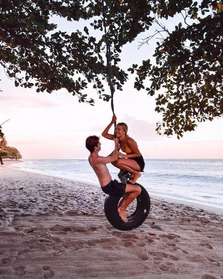 Living Asia Resort & Spa Sengigi Hotels Lombok Indonesia – Charlie & Lauren UK Travel Couple – Wanderers & Warriors – Palm Trees Happy Couple #relatio…