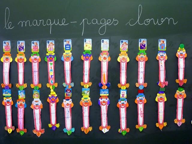 Marque pages clown petits objets fabriquer au cp pinterest marque page et clowns - Fabriquer un marque page ...