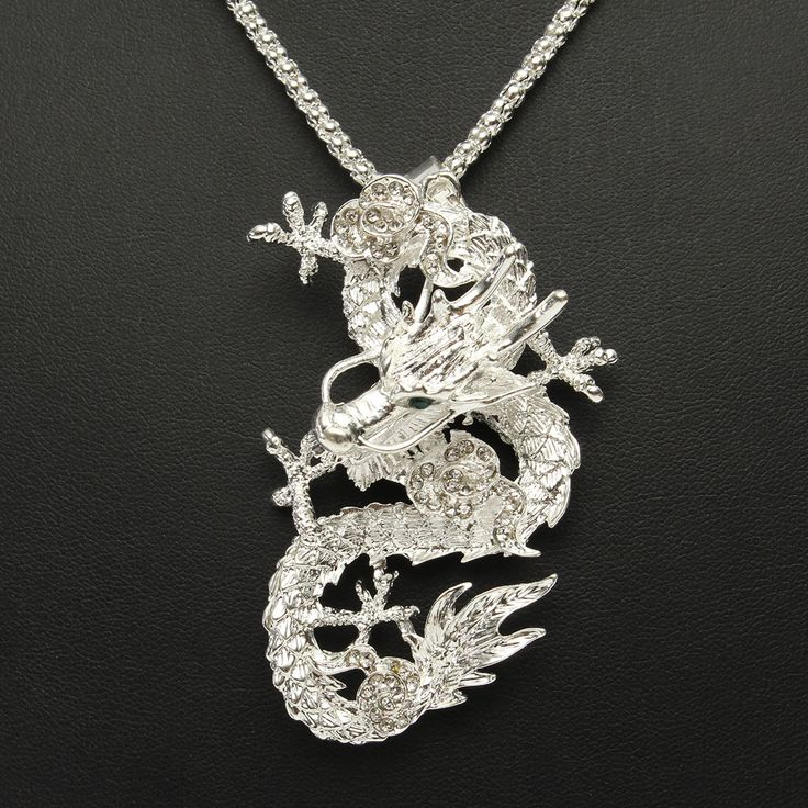 146 best men jewelry men necklaces images on pinterest men sale 18 889 silver dragon pendant charm men necklace jewelry clothing aloadofball