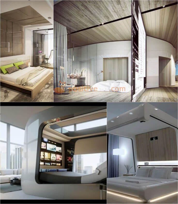 High Tech Bedroom Design • High Tech Interior Design • High Tech Home   Explore more High Tech Bedroom Ideas on https://positivefox.com