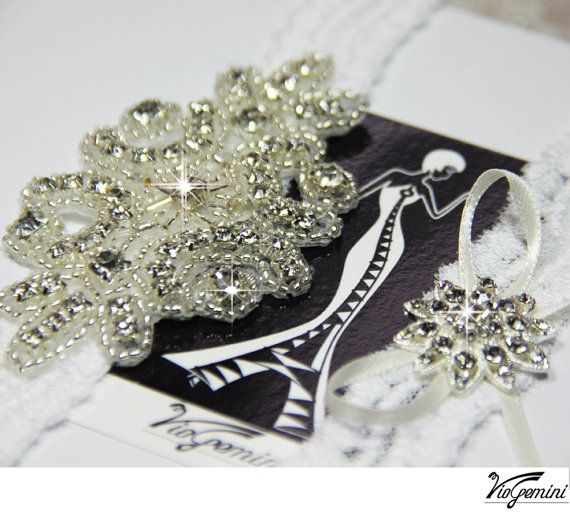 Rhinestone Wedding Garter Set
