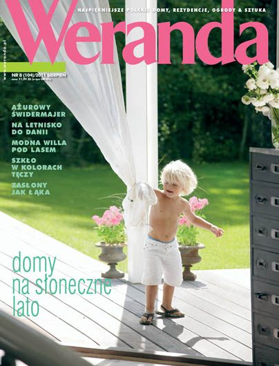 Okładka magazynu Weranda 8/2011 www.weranda.pl