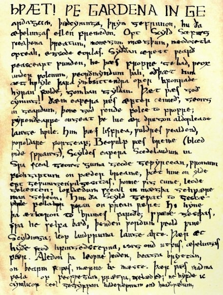 an analysis of beowulf an anglo saxon poem translated by burton raffel Though with forged bolts fast, when his fists had struck it.