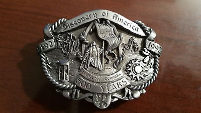 Discovery of America Collectable Belt Buckle