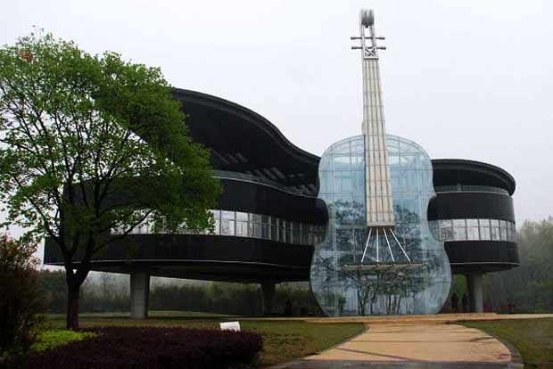Piano House in ChinaCubeme1: Dramatic Piano House, Huainan Cities, Architecture Students, Unusual Building, The Piano, Amazing Piano, House China, Architecture Design, Amazing Glasses