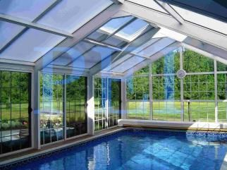 Why build a swimming pool if you can't swim all year 'round!  By enclosing your pool or swim spa with a glass structure you can enjoy swimming in a light-filled indoor sunspace.