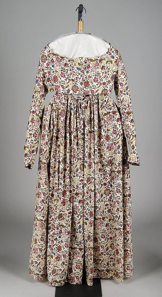 Dress, 1795-1800, cotton, American. Met
