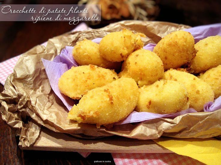 Crocchette di patate filanti ripiene di mozzarella
