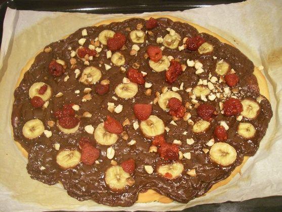 RECIPAY.COM - Pizza sucrée chocolat banane